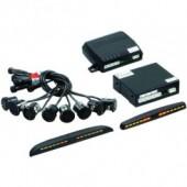 Комплект парковочных датчиков (парктроники) STEEL MATE PTS 800 MM (BLACK/SILVER)-8 датчиков (4+4)
