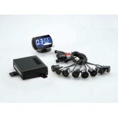 Комплект парковочных датчиков (парктроники) STEEL MATE PTS 800 V2  (BLACK/SILVER). 8 датчиков (4+4)