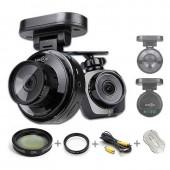 LUKAS LK-5900HD DUO HD 2CH Dash Cam DVR Car Black Box 16GB +GPS +37mm CPL Filter