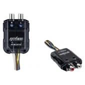Автомобильный преобразователь (конвертер) сигнала высокого уровня в сигнал низкого уровня, регулируемый диапазон входной чувствительности / 2 КАНАЛА Line Output Converter - Metra AX-MLOC725 2Chl Mini 150W Loc WTurn On